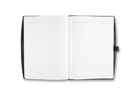 Open Notebook on white background isolate Stock Photo - 10540338