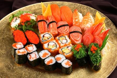 sushi plate: sushi Stock Photo