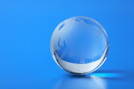 marbles close up: Glassy globe