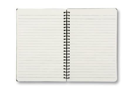 수첩: 흰색에 고립 된 노트북