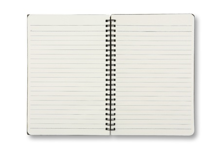 lined: isolated notebook on white  Stock Photo