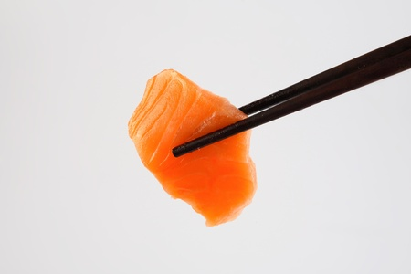 sushi on chopstick  photo