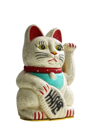 maneki: Classic japanese maneki-neko (lucky cat)
