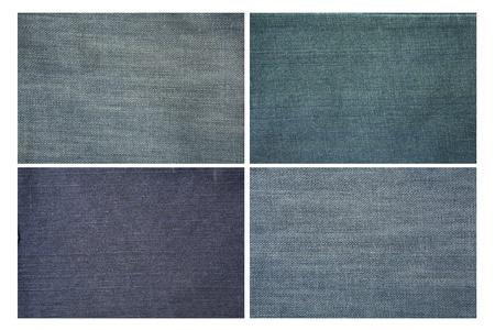 Set of jeans cloth texture  Stok Fotoğraf