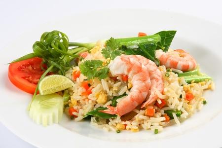 fried rice with shrimp,Thai cuisine  Stok Fotoğraf