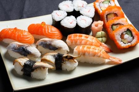 sushi plate: Sushi set