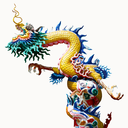 chinese temple: Chinese style dragon statue Stock Photo