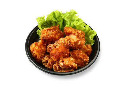 fried chicken isolated on white background Stok Fotoğraf