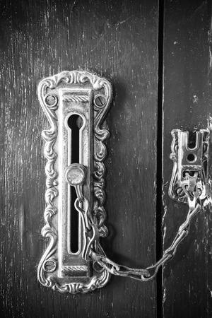 door knob: Decorative antique door handle