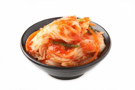 Kimchi Korean food close up on white background