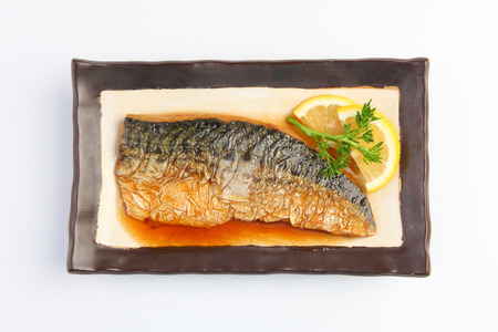Saba fish grill with japanese sauce photo