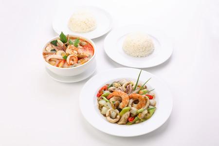 pimienta negra: Stirfried Black Pepper with Seafood TomYum