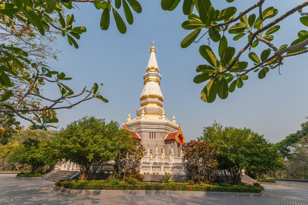 thai culture: WAT HIN MAK PENG in Nongkhai Province, Thailand Editorial