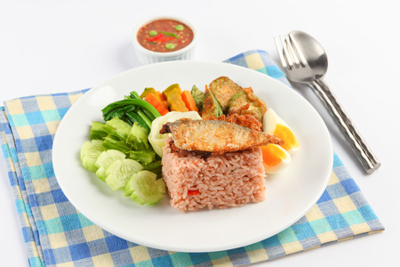 pla: fried mackerel with shrimp paste sauce nam prik kapi pla too