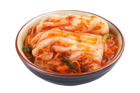 Kimchi Korean food close up isolated on white background