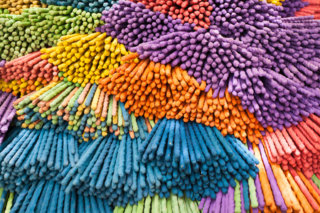 Close Up of a colorful incense stick 版權商用圖片
