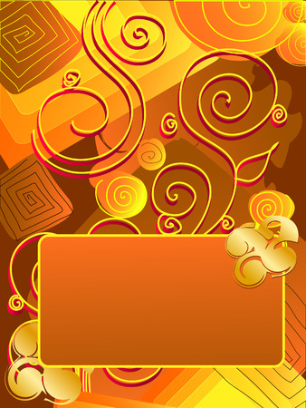 Greeting card, vector Vector