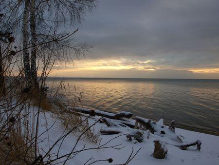 novosibirsk: Russia, Novosibirsk region, Ob Sea in winter