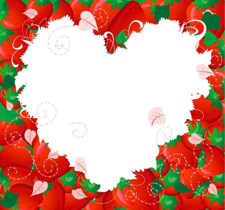 strawberry valentine Vector