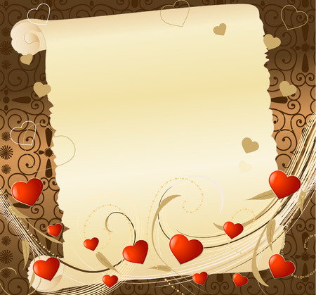 romantic letter Stock Vector - 6221724