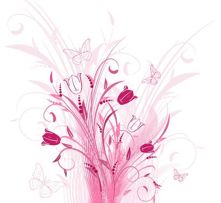bouquet tulips Stock Vector - 6292238