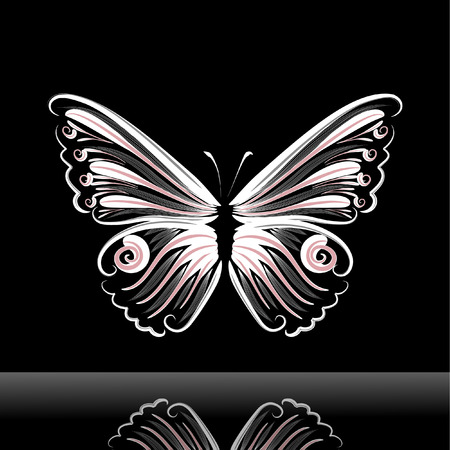 butterfly jig Stock Vector - 6357373