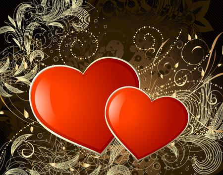 valentine gold Vector