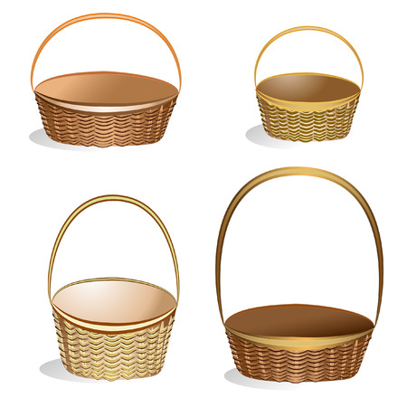 empty basket: Wicker Basket