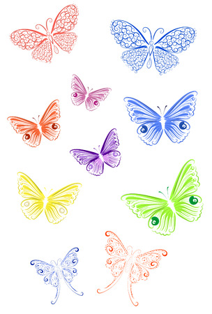 tendrils: colored lace butterfly