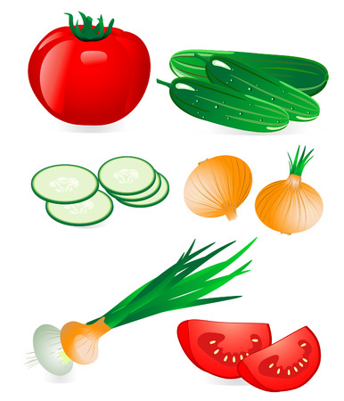 cucumbers: cucumber and tomato onion