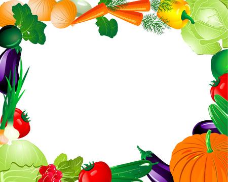 Ramka warzyw Ilustracje wektorowe