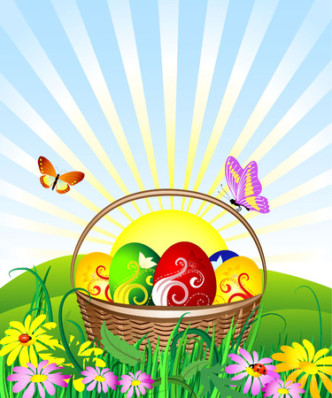 Easter Basket Stock Vector - 6514016
