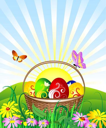 Easter Basket Stock Vector - 6514016