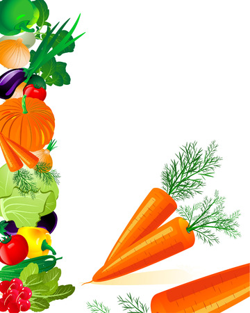 vegetables carrots Stock Vector - 6514029