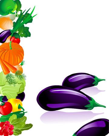 Vegetables Eggplant Stock Vector - 6514018