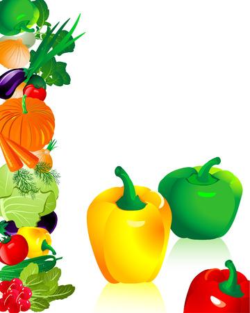 vegetables pepper Vector