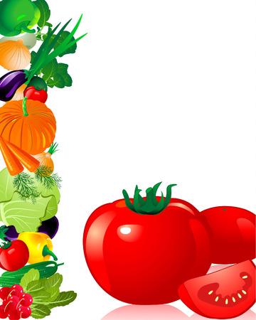 rzepa: warzywa pomidora  Ilustracja