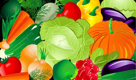 Vegetable background Stock Vector - 6633558