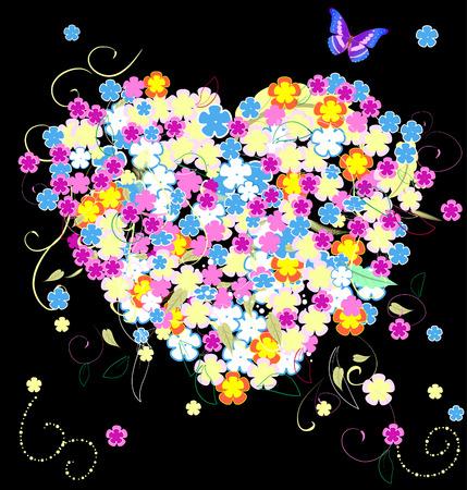 floral valentine Vector