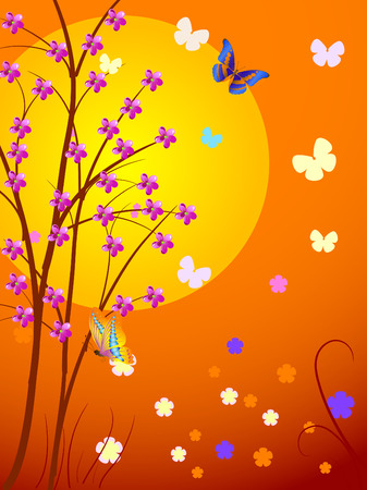 cherry the sun Stock Vector - 6678568