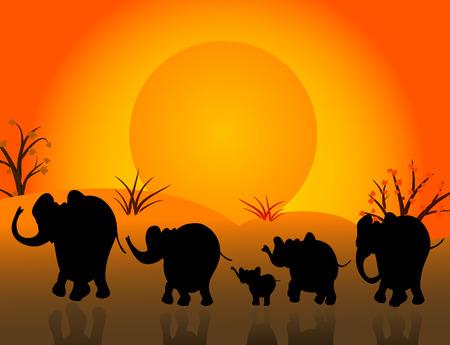 national animal: herd Illustration