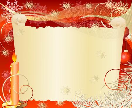 Christmas papyrus Vector