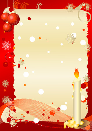 Postcard christmas Vector