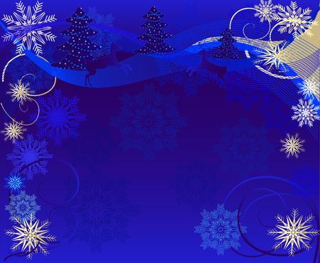 winter magic Vector