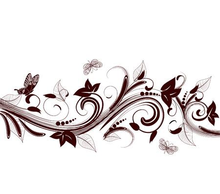 decoración floral abstracto Ilustración de vector