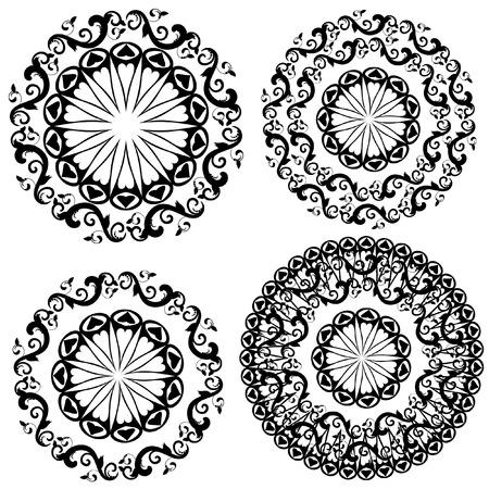 circular silhouette: pattern vintage
