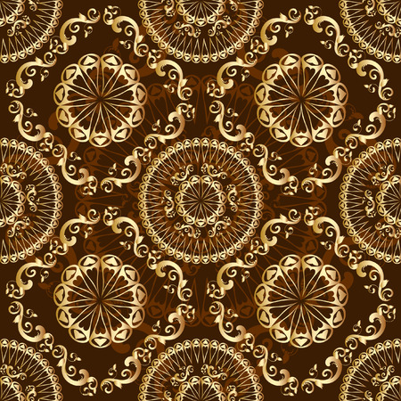 seamless background gold Vector