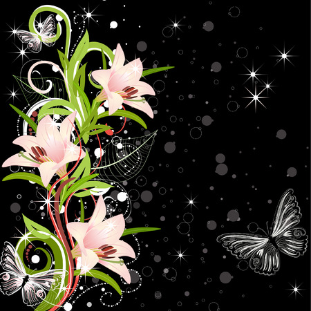 butterfly flower: fabulous design with lilies