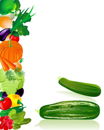 verduras verdes: calabacín