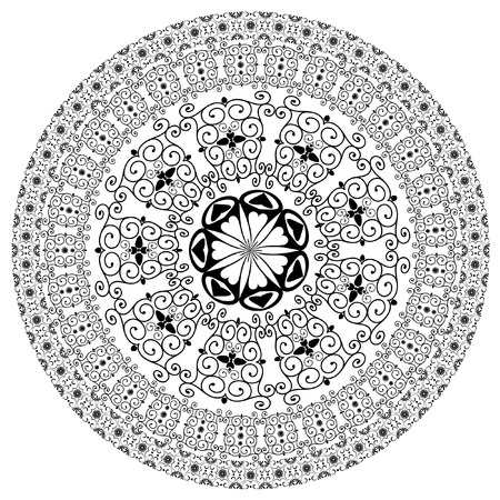 arabesque pattern round Vector